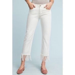 3x1 NYC High-Rise Straight Cropped Fringe Jean 30